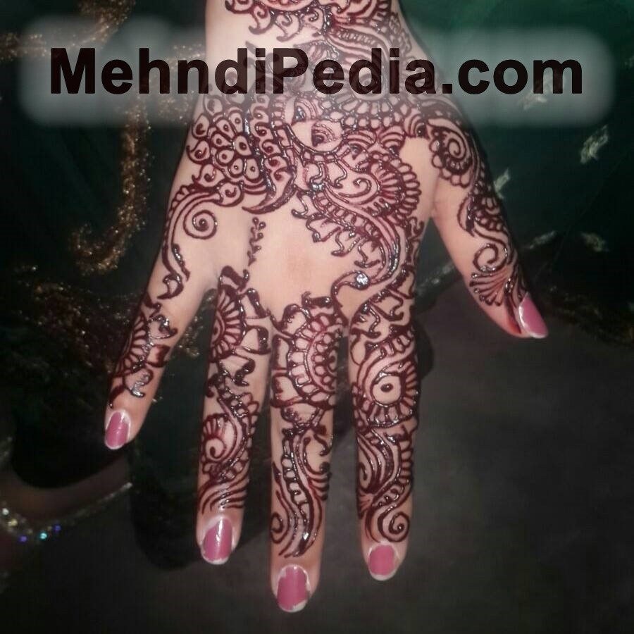 Lotus henna design back hand hd wallpapers