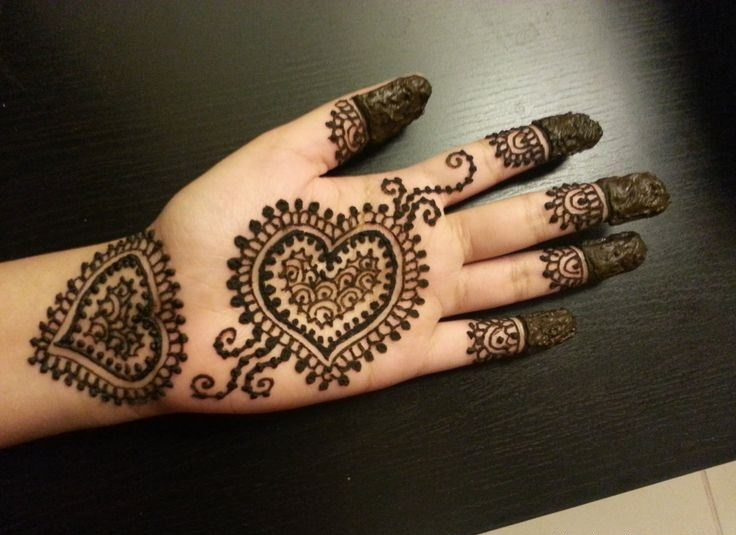 Simple mehandi designs for left hand palm