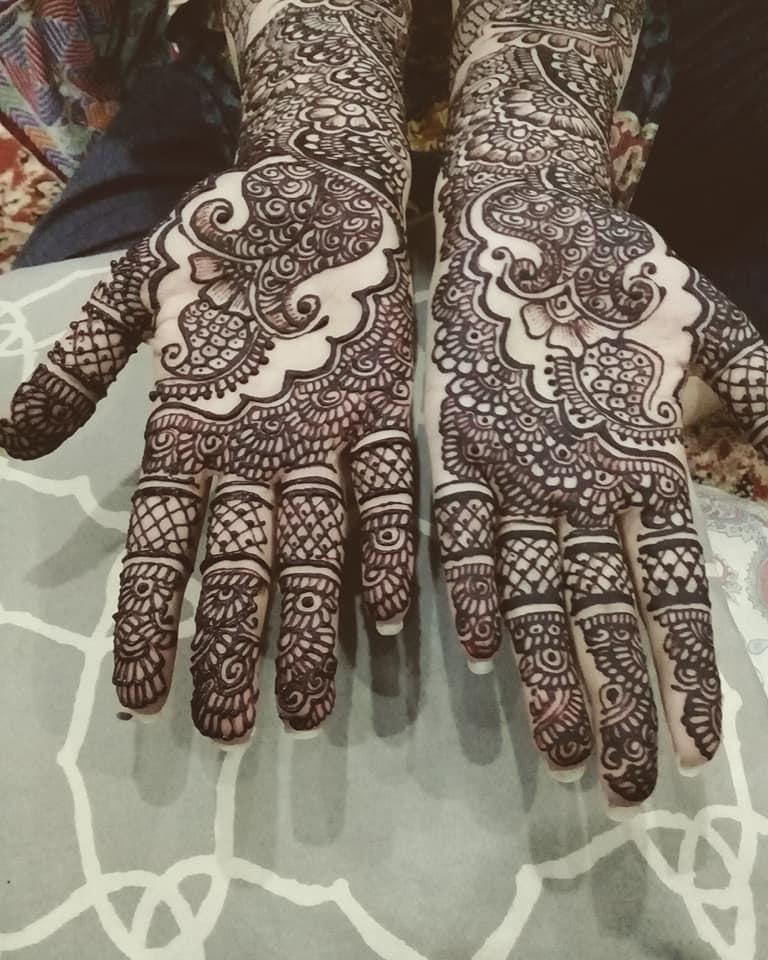 Arabic bridal henna mehndi designs for both front hands easy