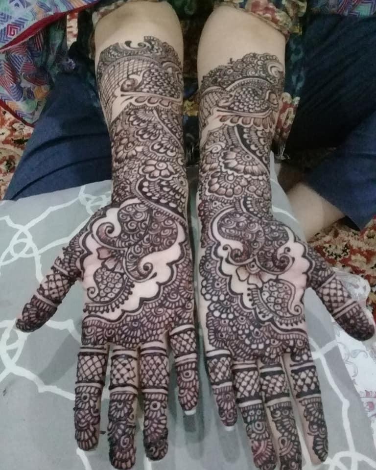 Arabic front hands mehndi designs full dark easy and simple