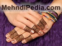 cute dulhan mehndi designs simple and easy for fingers