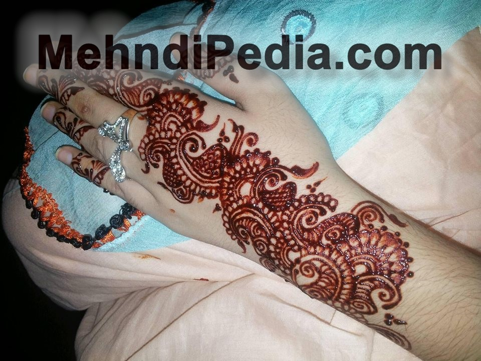 left hand mehandi designs simple and easy only