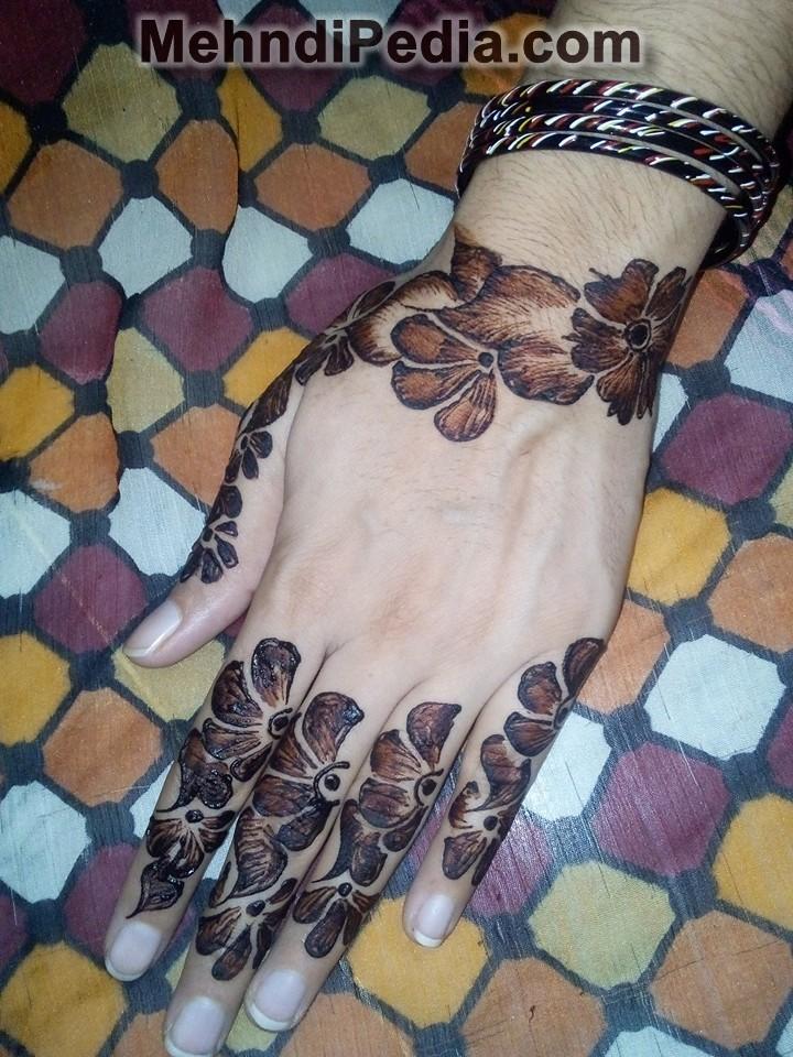 simple mehandi designs for left hand back side new