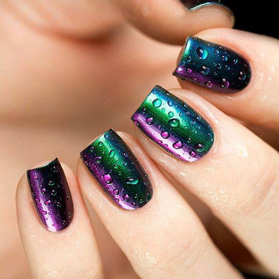 water drop nail art designs