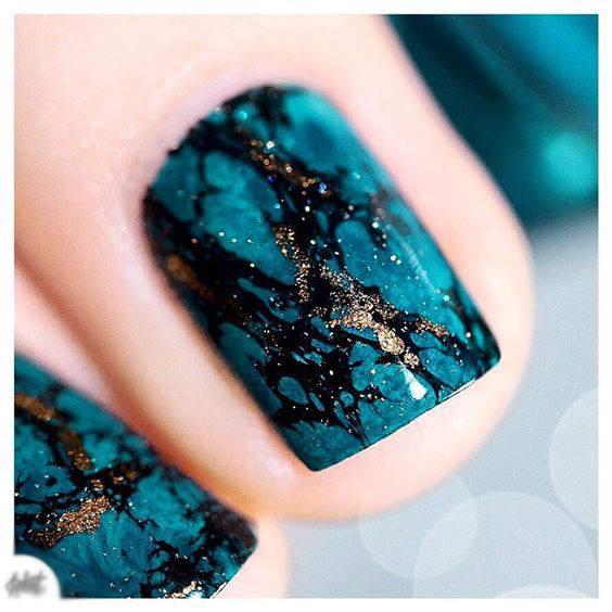 short nail art color desings