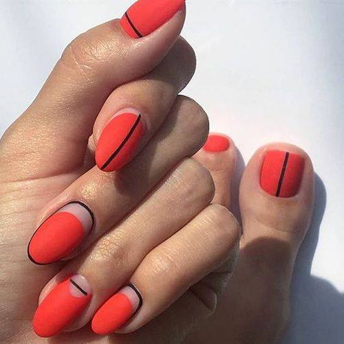red color simple designs
