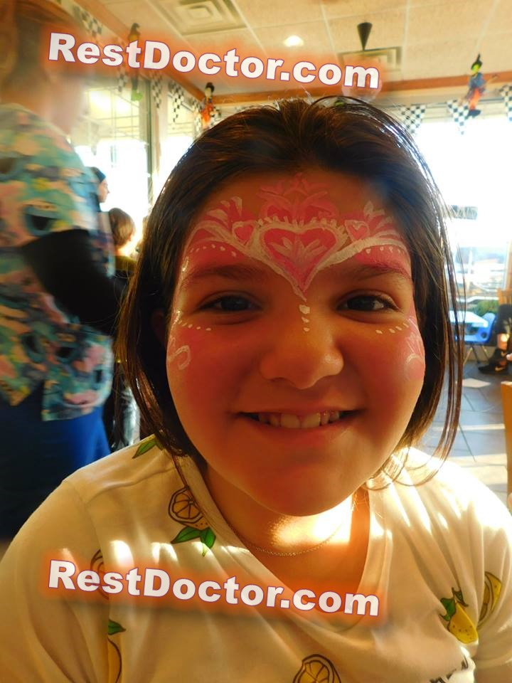 heart face painting for kids