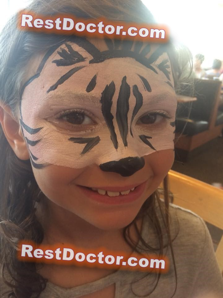 black cat easy kids face painting