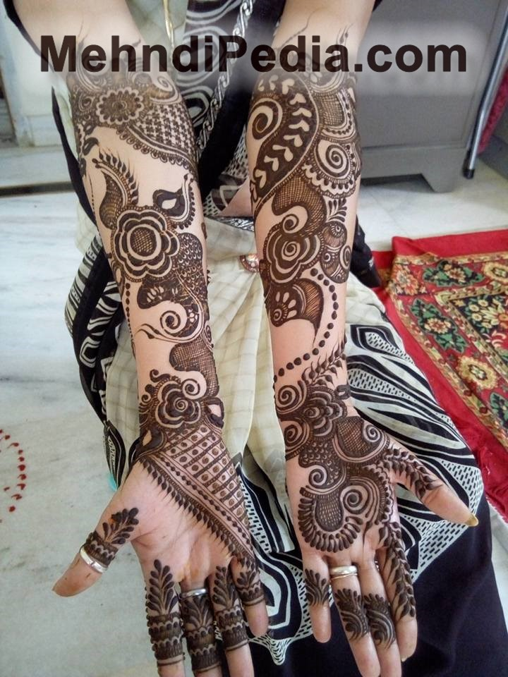 both front hands designs for function party