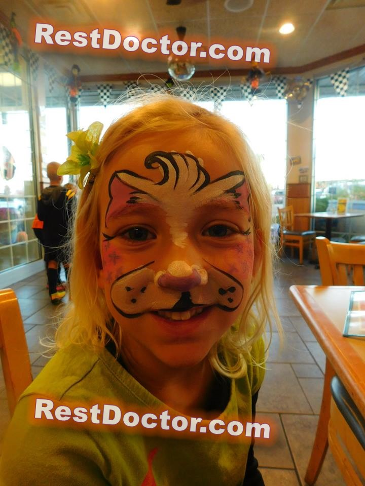 dog face paint style for kid