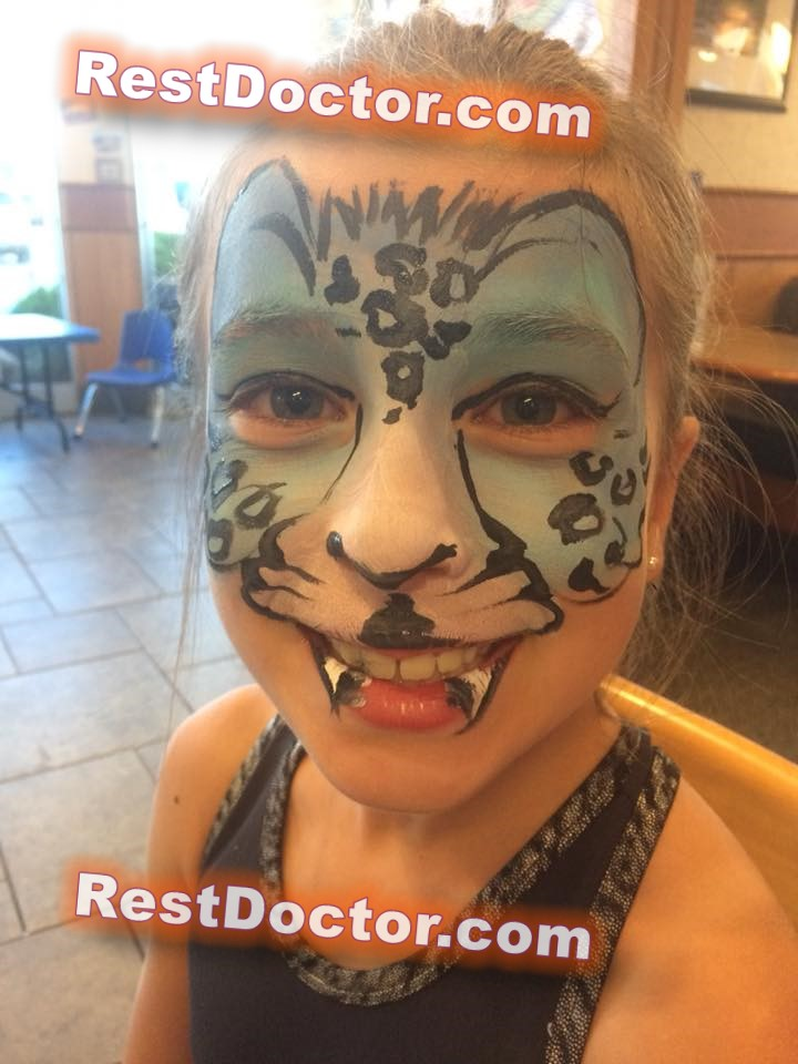 easy Tiger face painting