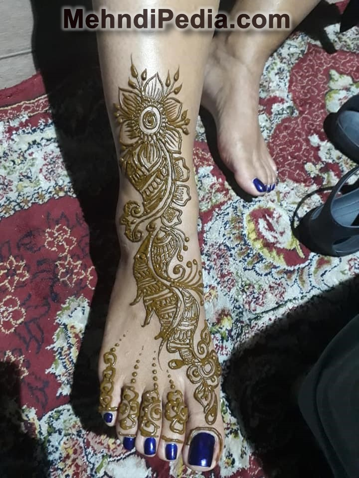 foot and leg mehndi designs wallpape