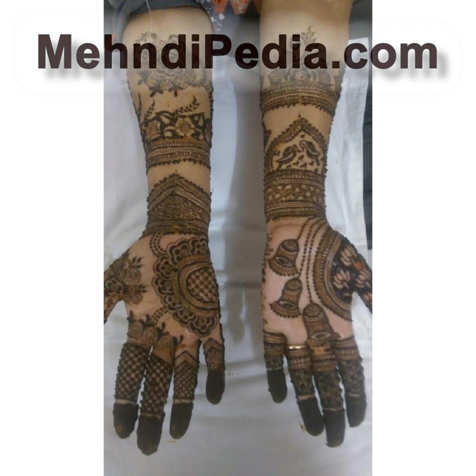 front hands designs full dark for wedding
