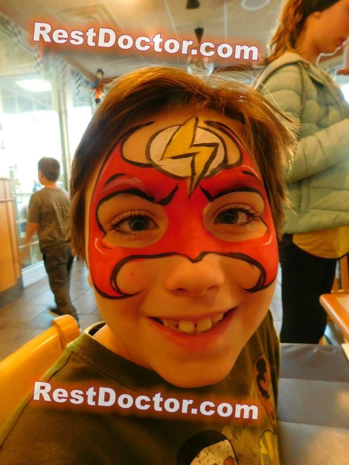 spiderman face paint cheek girls