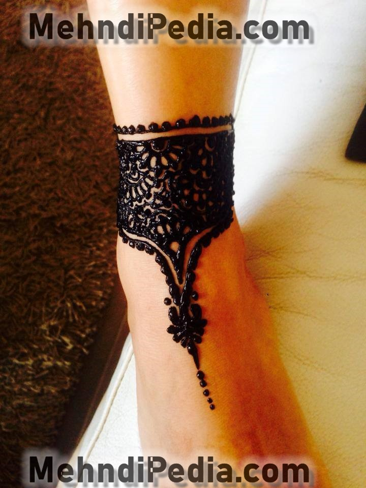 foot bracelet mehndi designs