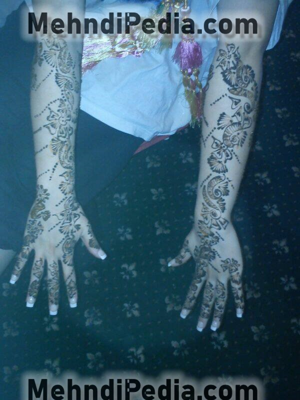 full hand arm mehndi designs easy