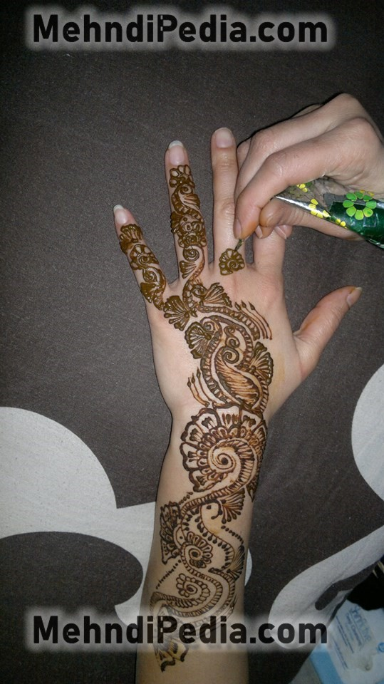 how to apply arm mehndi designs easy
