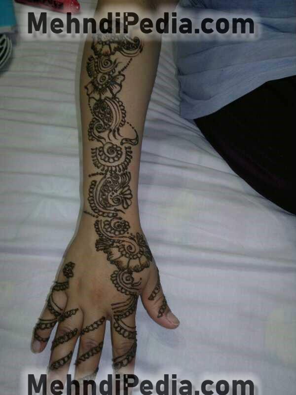 simple arm mehndi designs easy