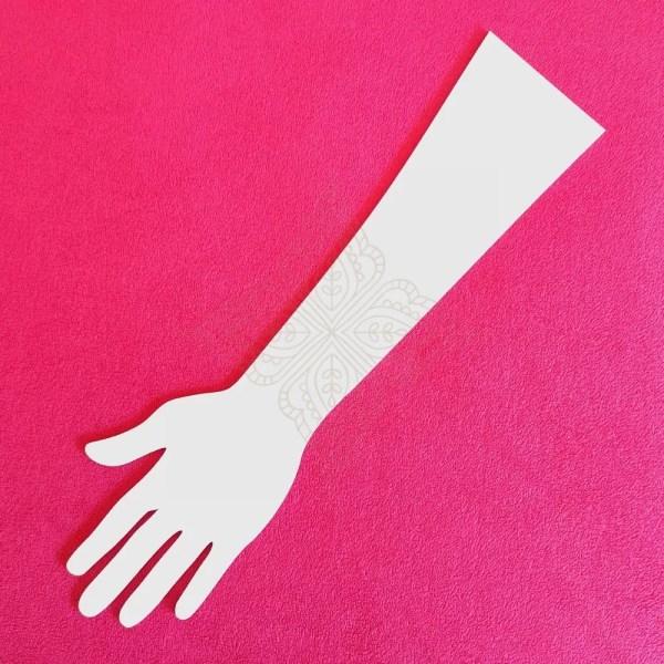 white hand template