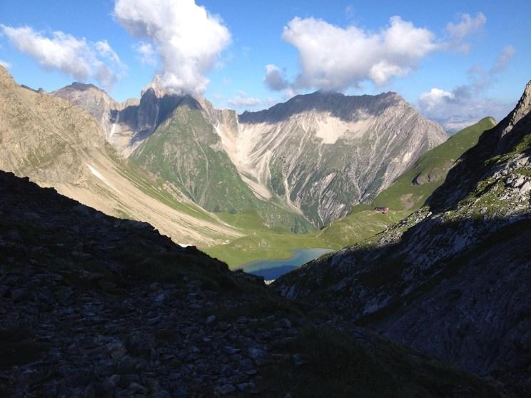 Rund 400 Höhenmeter seit der Memminger Hütte, es geht aufwärts…
