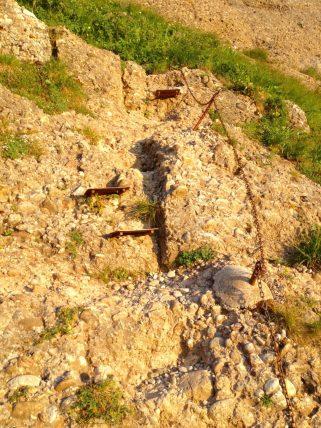 Der erste Teil des Klettersteigs