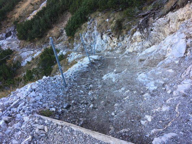 Abstieg vom Schrecksee nach Hinterstein