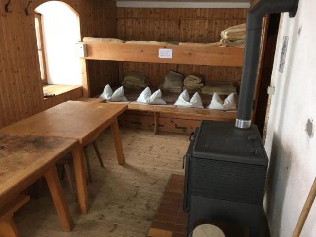 Gemütlich: Der Winterraum des Kärlingerhaus