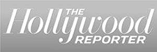 Image of The Hollywood Reporter logo in black and white