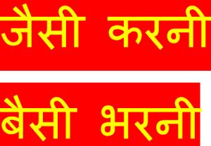 jaisi karni waisi bharni essay in hindi
