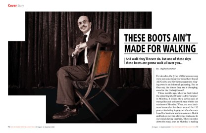 These boots ain't made for walking - Godrej - cover story