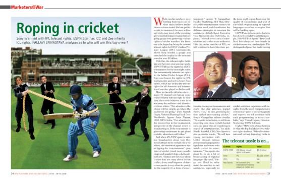 marketers@war - Roping in Cricket