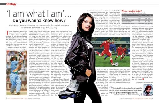'I am what I am' Do you wanna know how? - Reebok