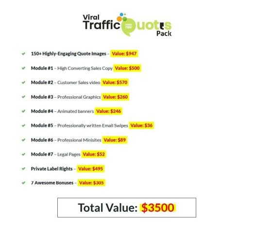 Viral-Traffic-Quotes-Pack-PLR-price