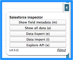 Salesforce Inspector Menu