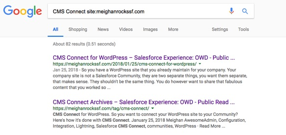 Google Search: CMS Connect site:meighanrockssf.com