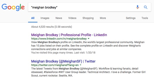"Search ""Meighan Brodkey"""