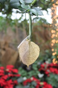 This beautiful ornament was made (very carefully!) from a real Aspen leaf! Aspen Leaf Ornament – $16.95