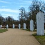 Schutzhütten für Skulpturen im Park Sanssouci