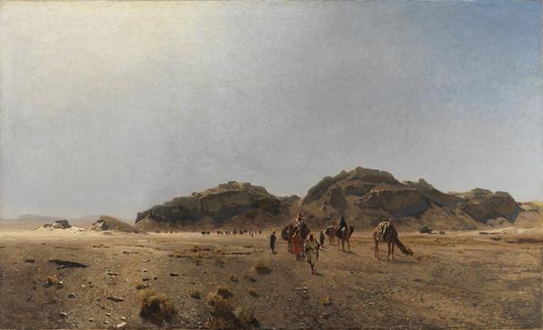 Gemälde: In der Wüste Araba
