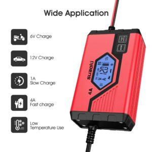Démarreur et chargeur de batterie en comparaison