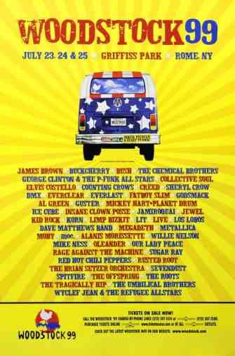 Découvrez la programmation du Woodstock 1999