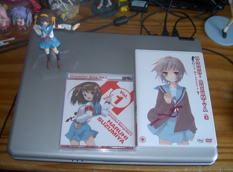 The DVD and CD that comes with it. (Character Song Vol. 1)