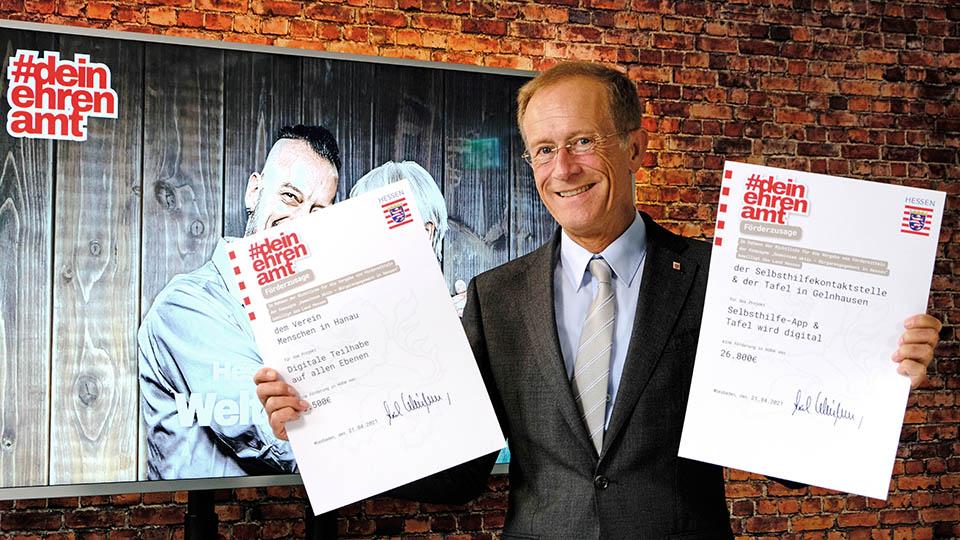 Landesregierung fördert Ehrenamtsprojekte in Gelnhausen und Hanau