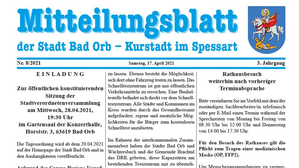 Mitteilungsblatt 2021/8
