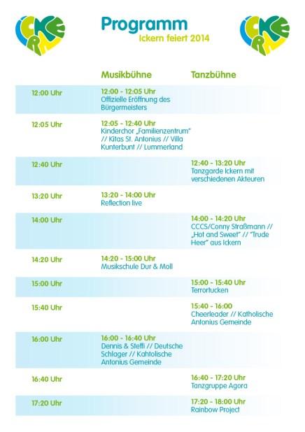 Ickern feiert - Programm 2014