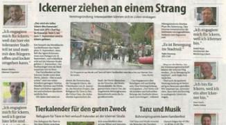 Stadtanzeiger Artikel Ickerner ziehen an einem Strang