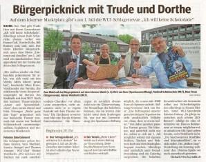 Bürgerpicknick mit Trude und Dorthe
