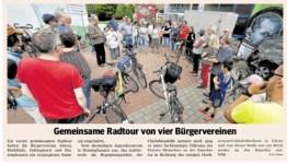 Gemeinsame Radtour von vier Bürgervereinen