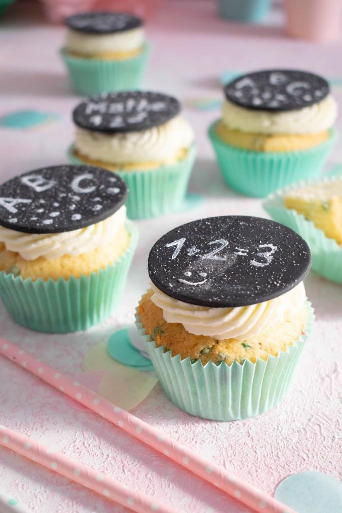 Konfetti Muffins zur Einschulung
