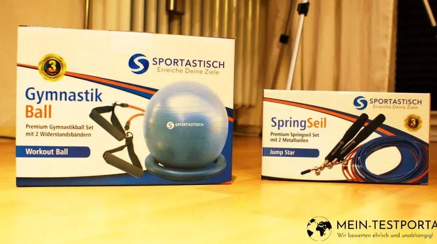Gymnastikball & Springseil von Sportastisch
